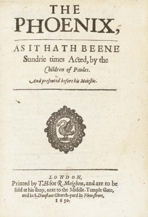 [MIDDLETON, Thomas (ca 1570-16