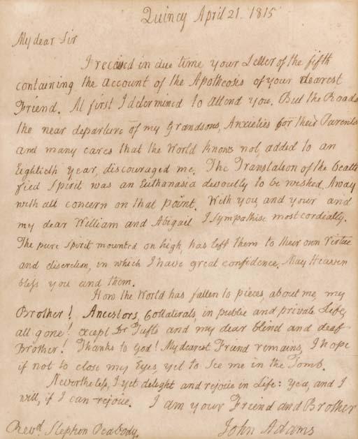 ADAMS, John (1735-1826), Presi