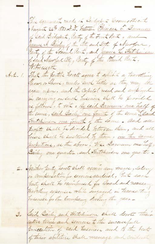 BARNUM, Phineas T. (1810-1891)