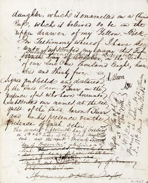 BURR, Aaron (1756-1836), Vice-