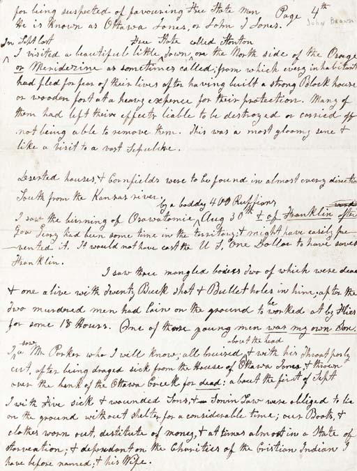 [CIVIL WAR]. BROWN, JOHN (1800