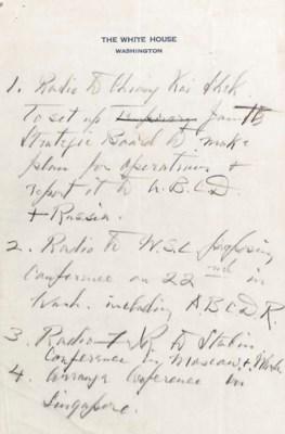 ROOSEVELT, Franklin D., Presid
