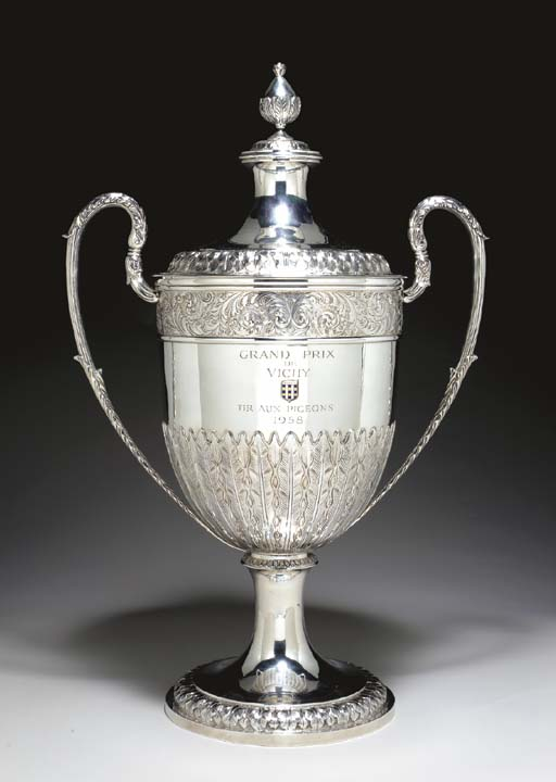 A LARGE VICTORIAN SILVER TWO-H