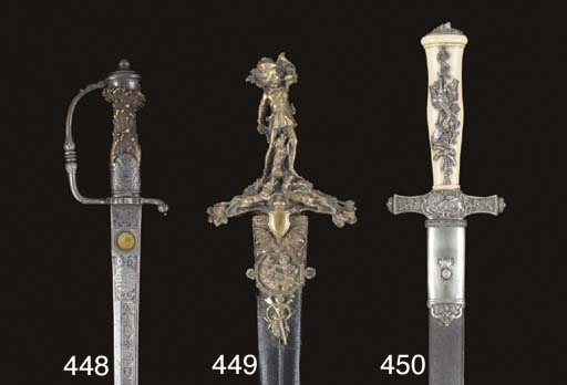 A FRENCH HUNTING SWORD OF EXHI