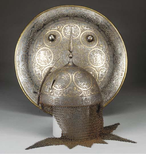 AN INDO-PERSIAN STEEL HELMET (