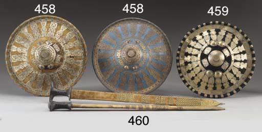 TWO ETHIOPIAN CIRCULAR SHIELDS