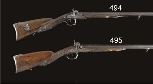 A .60 FRENCH SILVER-MOUNTED D.
