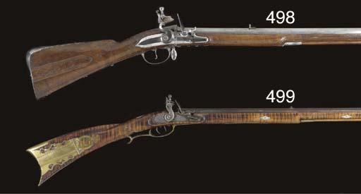 A .44 FLINTLOCK 'KENTUCKY' RIF
