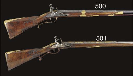 A FINE .65 AUSTRIAN FLINTLOCK