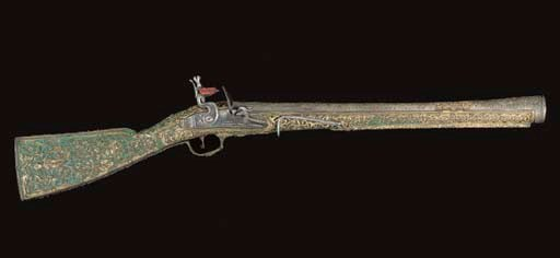 A FINE TURKISH FLINTLOCK BLUND