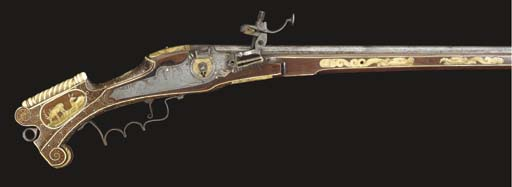 A .38 GERMAN WHEEL-LOCK CARBIN