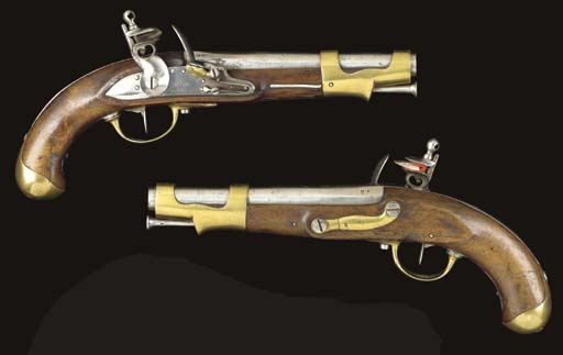 A PAIR OF .70 FRENCH MODEL AN