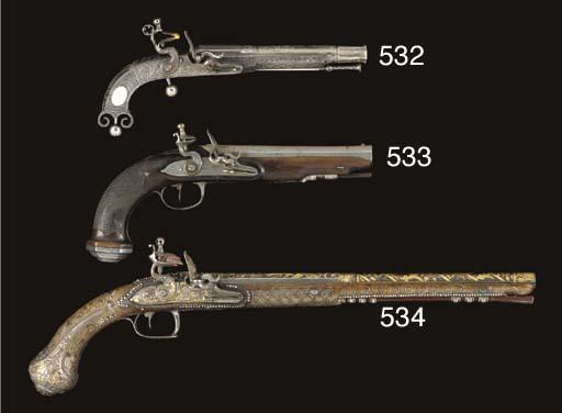 A .55 SCOTTISH ALL-STEEL FLINT