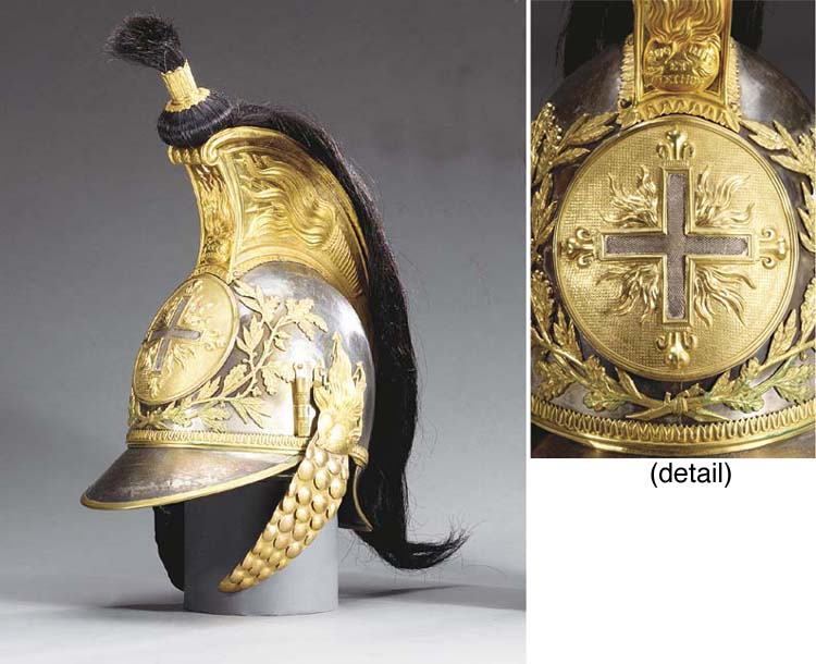 A MUSKETEER'S HELMET OF THE 1S