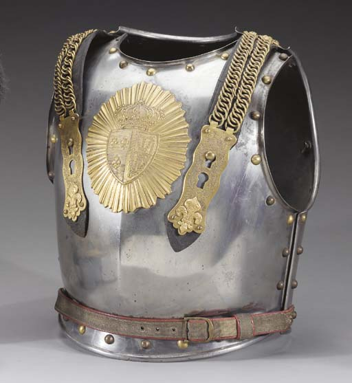 AN OFFICER'S CUIRASS OF THE CU