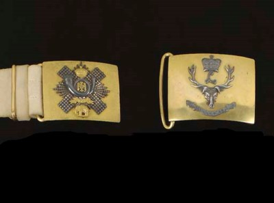 TWO OFFICERS' WAISTBELT-PLATES