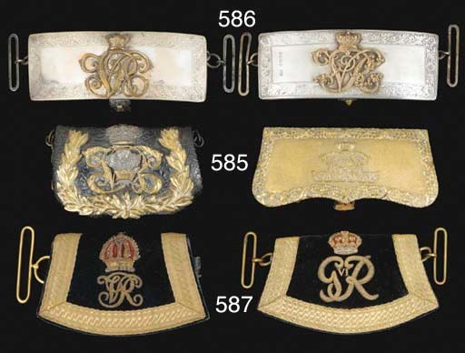 FOUR OFFICERS' VICTORIAN POUCH