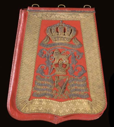 AN OFFICER'S SABRETACHE OF THE