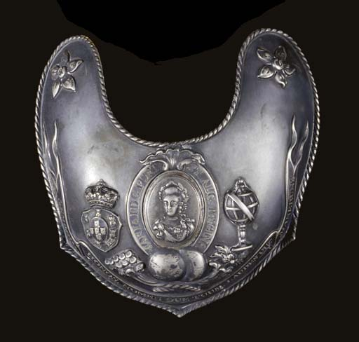 A PORTUGUESE OFFICER'S GORGET