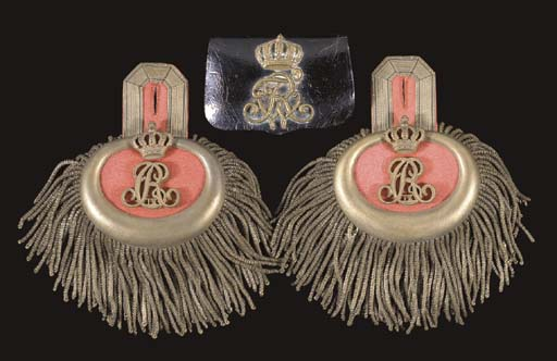 AN OFFICER'S POUCH AND EPAULET