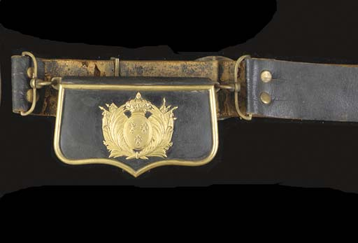 A CAVALRY OFFICER'S POUCH AND