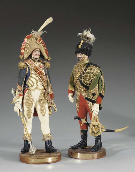 TWO FRENCH MILITARY FIGURINES