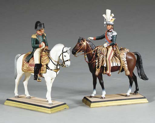 FOUR MILITARY FIGURINES BY GEO