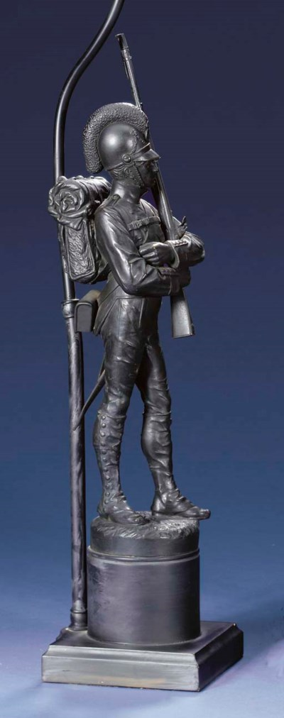 A FIGURE OF A BAVARIAN SOLDIER