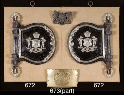 TWO BRITISH ARMORIAL ITEMS