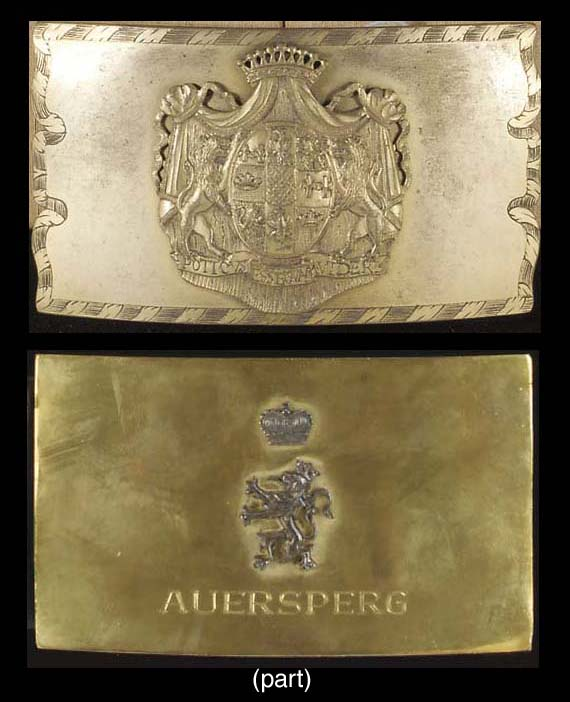 A GROUP OF ARMORIAL ITEMS FOR