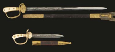 AN AUSTRIAN HUNTING SWORD AND