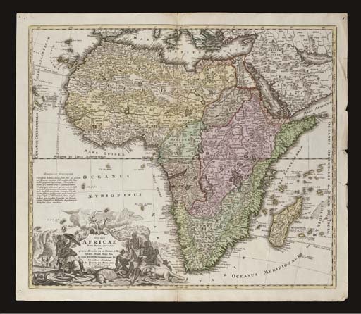 [AFRICA--MAPS]. HOMANN, J.B. T