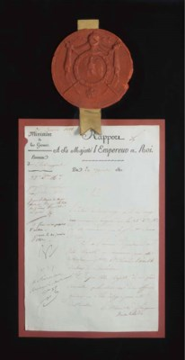 NAPOLEON BONAPARTE. Autograph