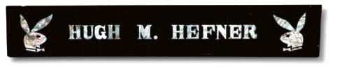 HEFNER, Hugh M. Nameplate used