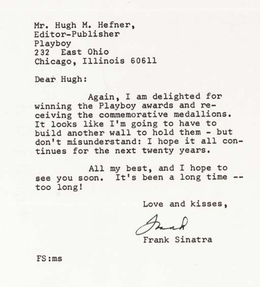 SINATRA, Frank (1915-1998).  T