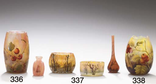 A GROUP OF FOUR ETCHED AND ENA