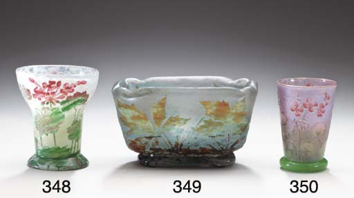 AN ETCHED AND ENAMELED GLASS V