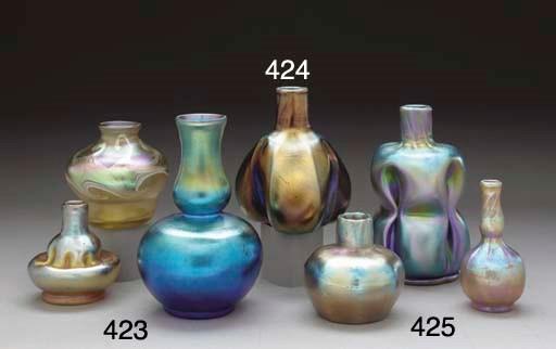 A FAVRILE GLASS VASE