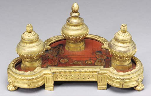A LOUIS XVI STYLE ORMOLU AND S