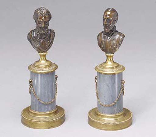 A PAIR OF FRENCH BRONZE, ORMOL