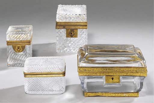 A GROUP OF FOUR FRENCH ORMOLU-