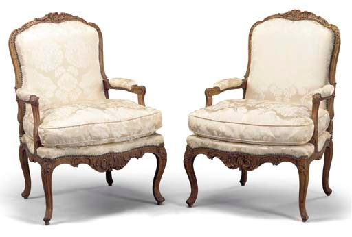 A MATCHED PAIR OF LOUIS XV WAL