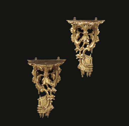 A PAIR OF GEORGE II STYLE GILT