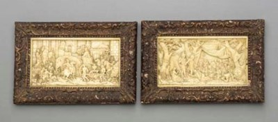 A PAIR OF IVORY RELIEFS**