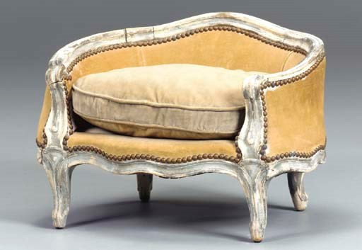 A LOUIS XV GRAY-PAINTED MINIAT