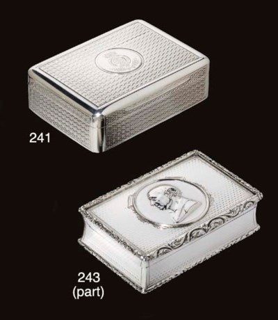 TWO GEORGE IV SILVER SNUFF-BOX