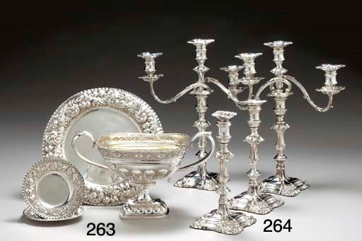 A SET OF FOUR SHEFFIELD-PLATE