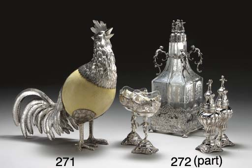 A GERMAN SILVER-MOUNTED GLASS
