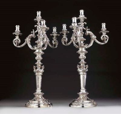A PAIR OF VICTORIAN SILVER FOU