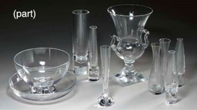 A GROUP OF STEUBEN GLASS VASES